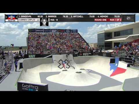 Curren Caples qualifies second in Skateboard Park