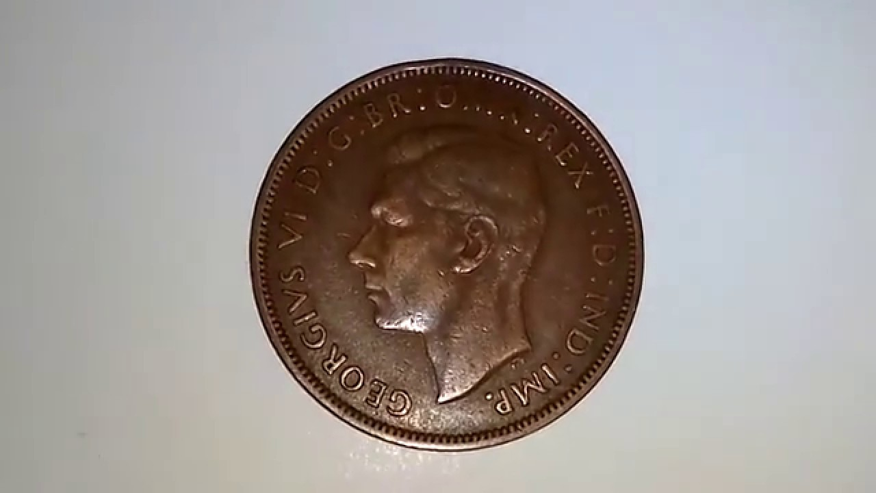 GREAT BRITAIN GB KM845 1939 VF-VERY FINE-NICE OLD ANTIQUE WWII ERA PENNY COIN