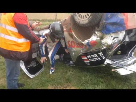 Wypadek Roberta Kubicy na testach przed Rajdem Polski 2013
