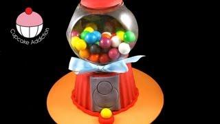 Make a Gumball Machine Giant Cupcake Cake! A Cupcake Addiction How To Tutorial