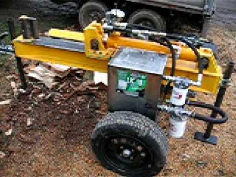 Homemade Log Splitter Part 1 Youtube