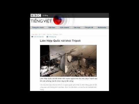 02-05-2011 - BBC Vietnamese - Liên Hiệp Quốc rút khỏi Tripoli