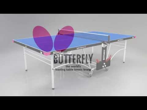 Butterfly Spirit 12 Outdoor Rollaway Table Tennis Table