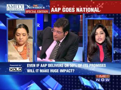 The Newshour Debate: Aam Aadmi Party goes National - Full Debate (30th Dec 2013)