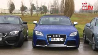 Autobild Vergleich:Porsche Boxster vs Audi TT RS vs BMW Z4 Mercedes SLK videos