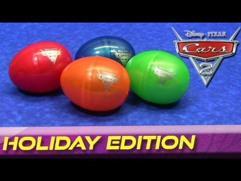 Cars 2 Holiday Edition Easter Eggs Diecast Cars Disney/Pixar 2012