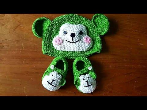 Hướng dẫn móc nón len hình mặt khỉ cho bé p1