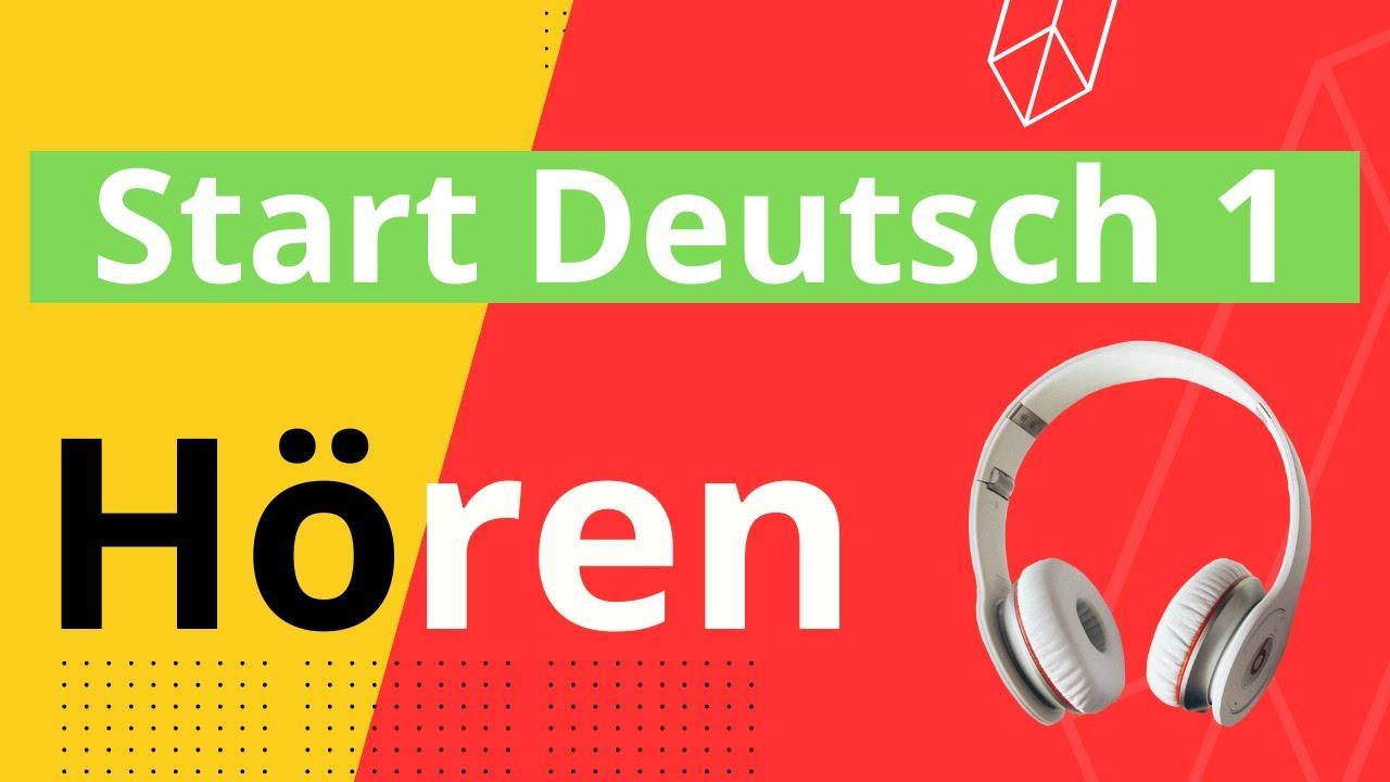 15 Hörverstehen übungen A1 15 Listening Exercises Start Deutsch 1