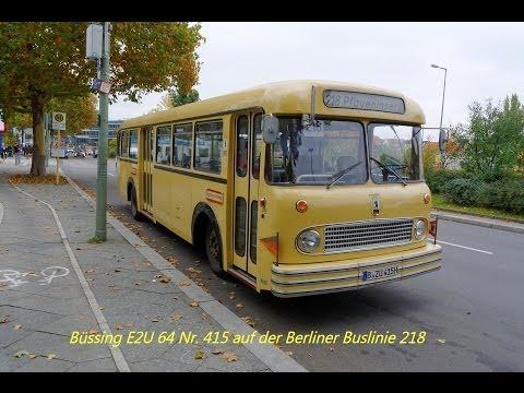 Mit dem Büssing E2U 64 auf der Buslinie 218 in Berlin [1080p]