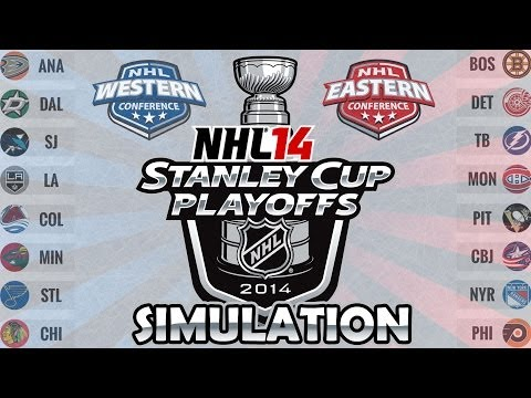 NHL 14 Stanley Cup Playoffs Simulation | Stanley Cup Playoffs 2014 (Round 1)