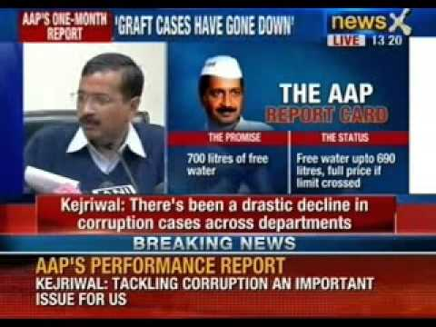 Breaking News: Arvind Kejriwal releases report card after 1 month in office - NewsX