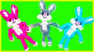 BUNNY/RABBIT CHARM With Two Forks Without Rainbow Loom