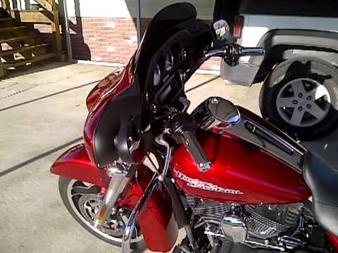 2012 Flhx Street Glide In Ember Red Sunglo With King Tour
