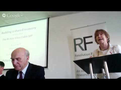 The Rt Hon Vince Cable MP speech on building a shared recovery