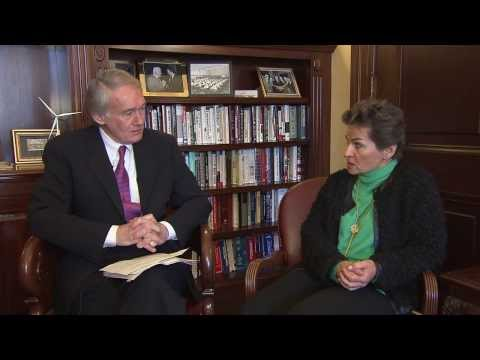 #ClimateMinutes with Senator Markey & Christiana Figueres Executive Secretary of the UNFCC.