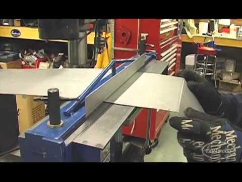 Sheet Metal Brake Fabricating Tight Bends for a Truck Bed at Eastwood