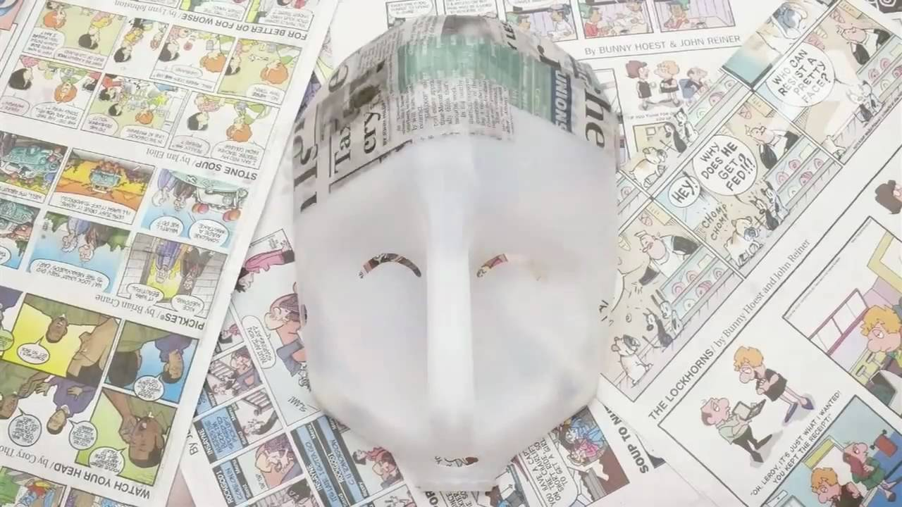 How to Make a Papier-Mache Mask - YouTube