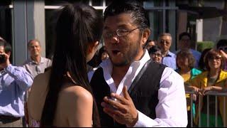 Chinese Singing Flash Mob Strikes In LA
