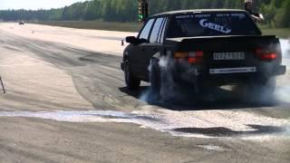 Svarta Faran MaxxTuning Volvo 740 T5 Beats Nissan Skyline! info in description!