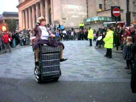 funny grannies on motorised shopping trolleys youtube