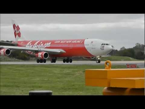 Air Asia X Airbus A340-313X's at London Gatwick!