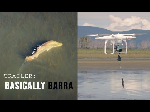 Drone fishing for Barra