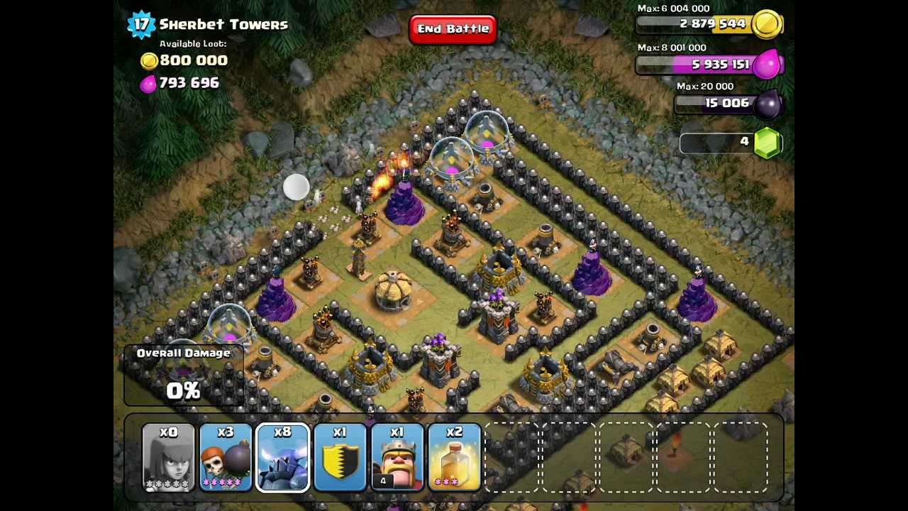 Clash of Clans - Sherbet Towers (level 50) - YouTube