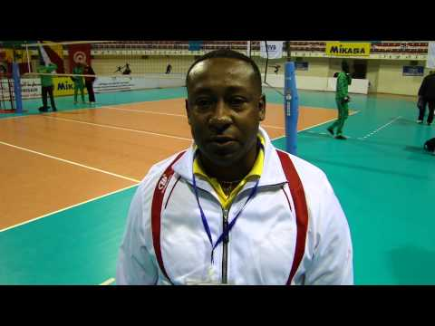 Seychelles coach Ally Francois after the match against Tunisia at 2014 Volleyball World championship