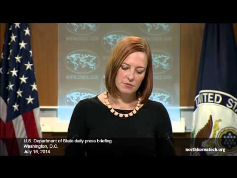 North Korea questions at State Dept. briefing, July 16, 2014