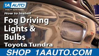 How To Install Replace Fog Driving Lights And Bulbs Toyota
