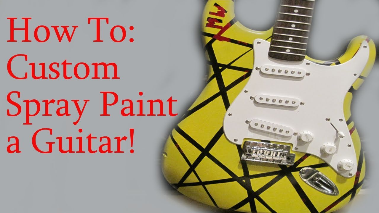 how to spray paint a guitar youtube. Black Bedroom Furniture Sets. Home Design Ideas