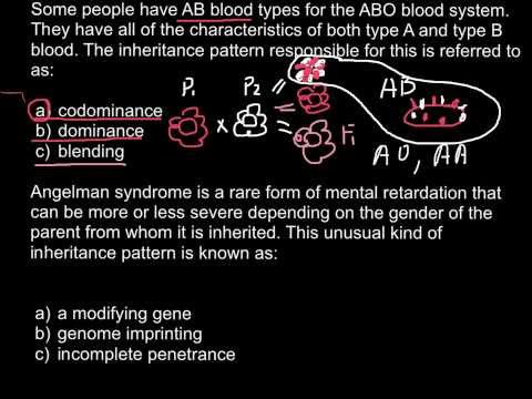 ABO and Angelman syndrome questions