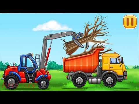 car truck, car crane-Funny baby