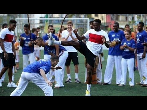 World Cup 2014 - Daniel Sturridge & Danny Welbeck Dance 'Capoeira' In Favela