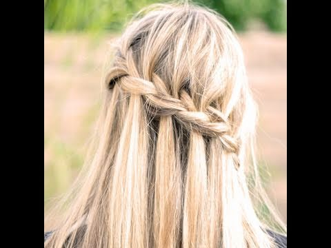 How to do a Waterfall braid + How to Finish it