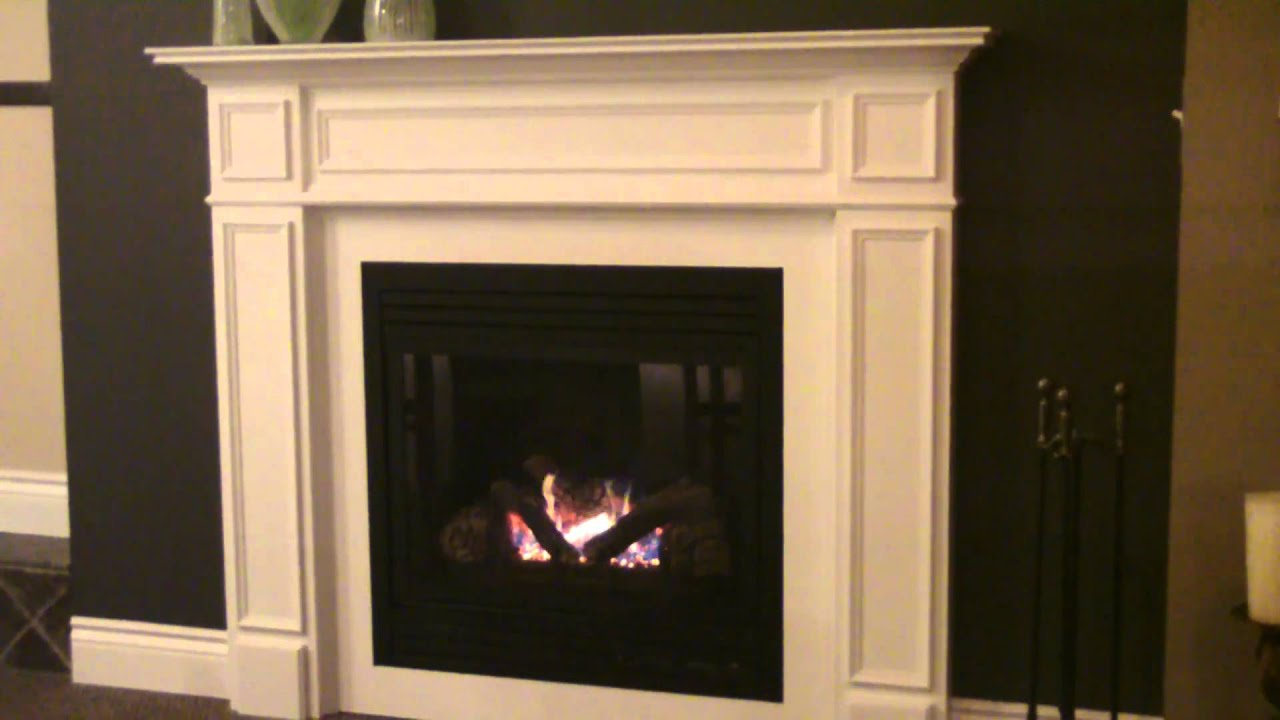 Majestic Cdv33 Direct Vent Gas Fireplace With Wood Mantel Mp4 Youtube