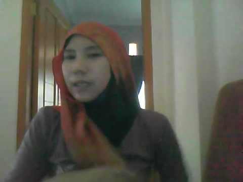 cara memakai  pashmina ala Hana Tajima