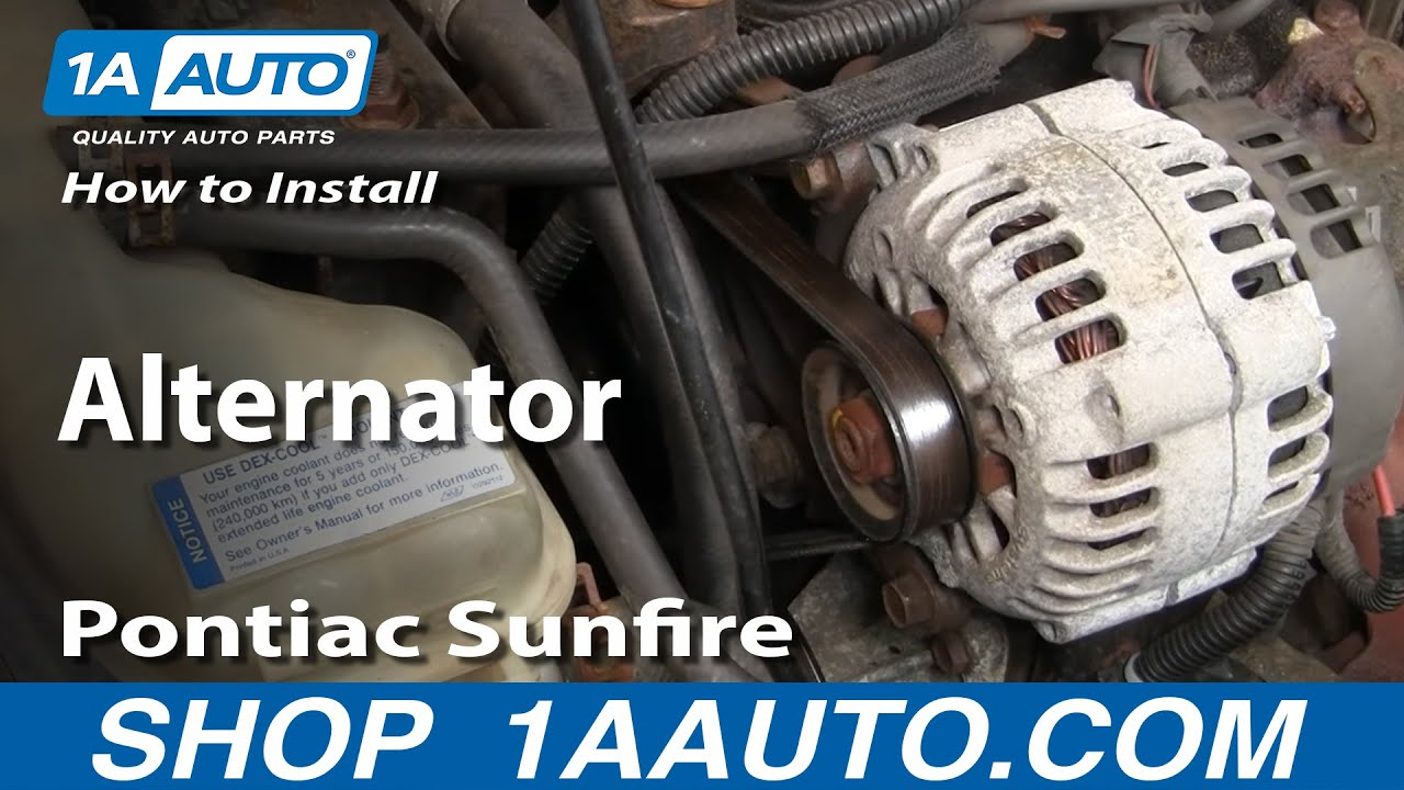 How To Install Replace Alternator Cavalier Sunfire 2 2L 95