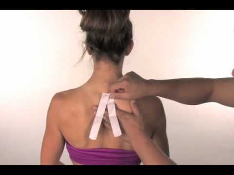 Kinesio Precut Neck Tape Application Instructions
