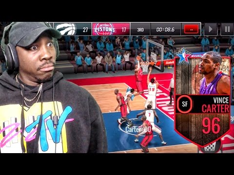 96 SLAM-DUNK CONTEST VINCE CARTER POSTERIZING! NBA Live Mobile 16 Gameplay Ep. 78