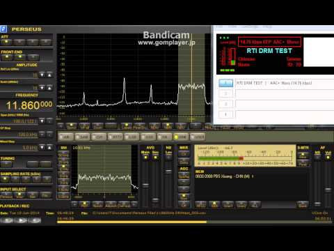 11860 kHz Radio Taiwan Int. DRM test June 10, 2014