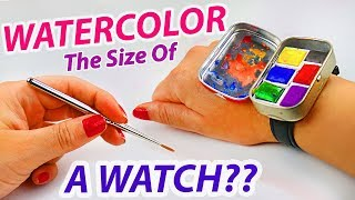 Next Level Painting: Testing The VIRAL Watercolor Watch