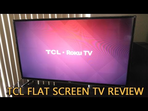 TCL Flat Screen TV 1080p Roku Smart LED