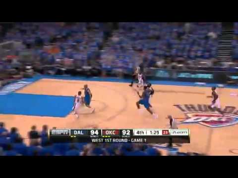 NBA Playoffs 2012: Dallas Mavericks Vs OKC Thunder Game 1 Highlights (0-1) Durant GW