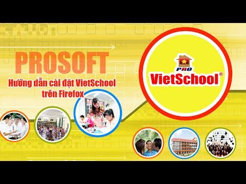 Hướng dẫn cài đặt VietSchool trên FireFox (11.05.2015)