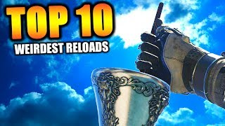 "Top 10 ""WEIRDEST RELOADS"" in COD HISTORY"