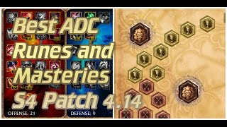 Best ADC Runes And Masteries S4 Patch 4.14 Standard ADC