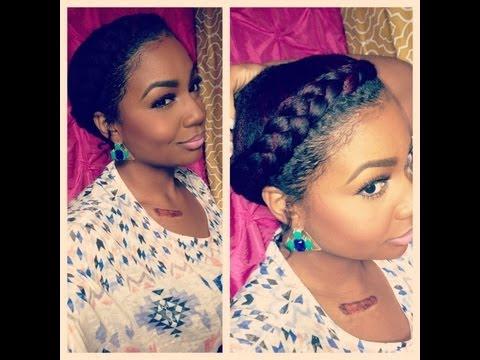 Natural Hair Style: Goddess Braid