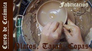 Fabricar tazas, copas o platos de cerámica