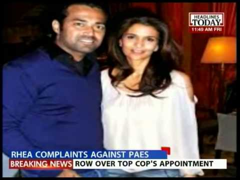 Rhea Pillai files complaint against Leander Paes